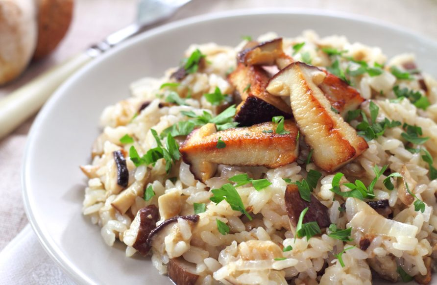 Chicken and wild mushroom risotto