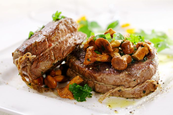 Fillet steak and mushroom