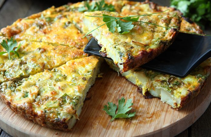 Frittata with Swiss chard