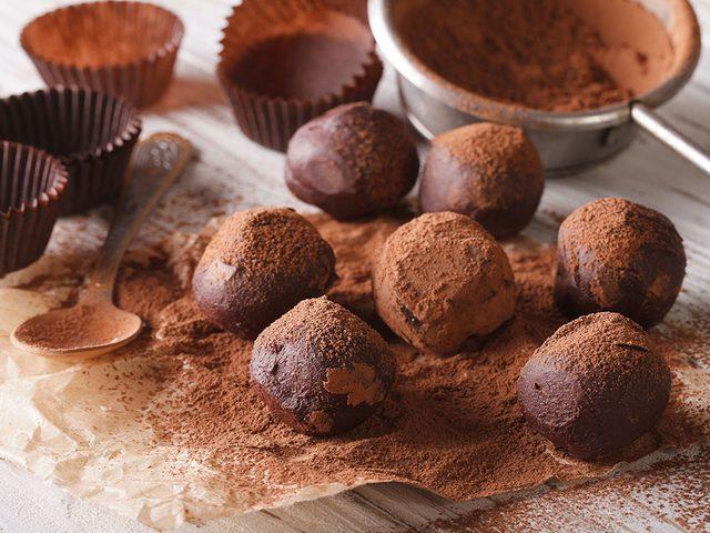 Chocolate bourbon balls