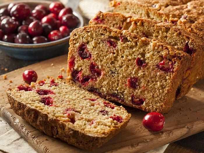 Cranberry and walnut bread