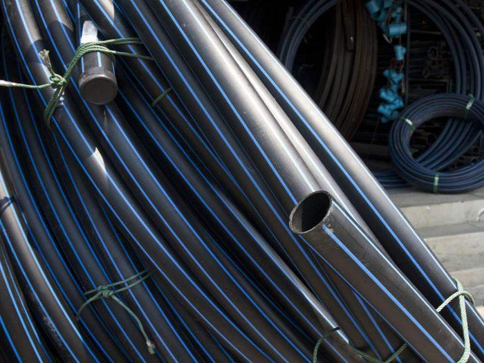 Black polyethylene pipe