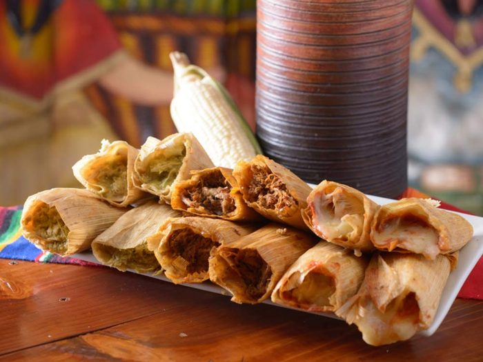 Traditional Mexican tamales