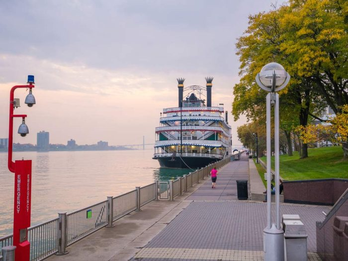 Downtown Detroit riverfront