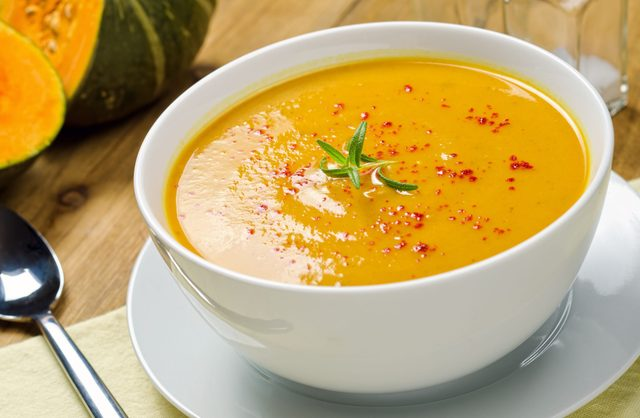 Roasted squash and garlic soup
