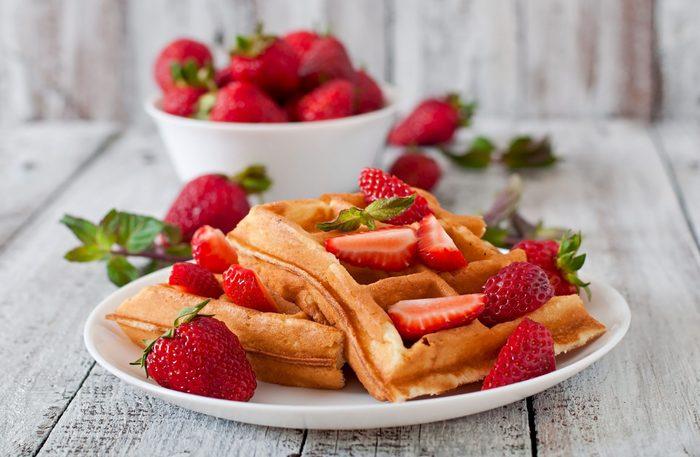 Strawberry bran waffles