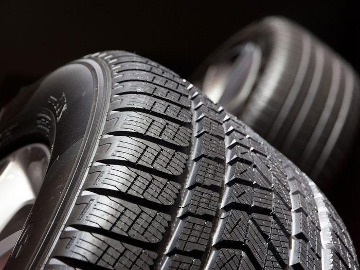 Tire tread close-up