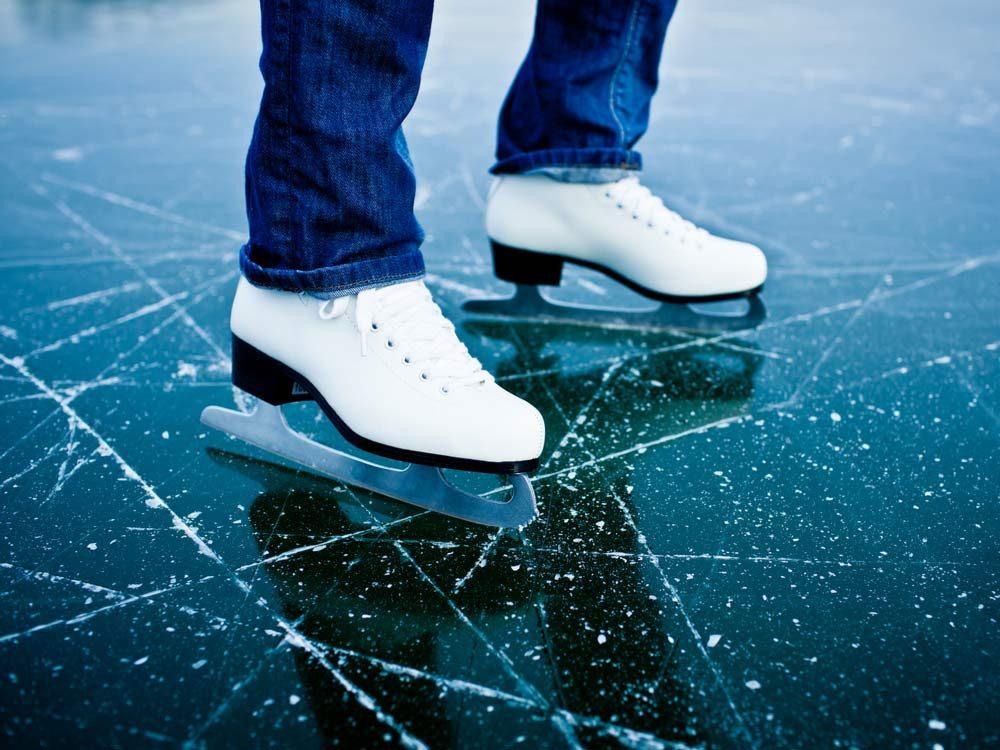 Use a garden hose to protect your skates