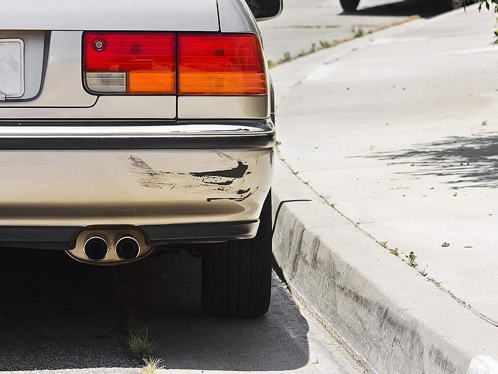 Bumper of old car