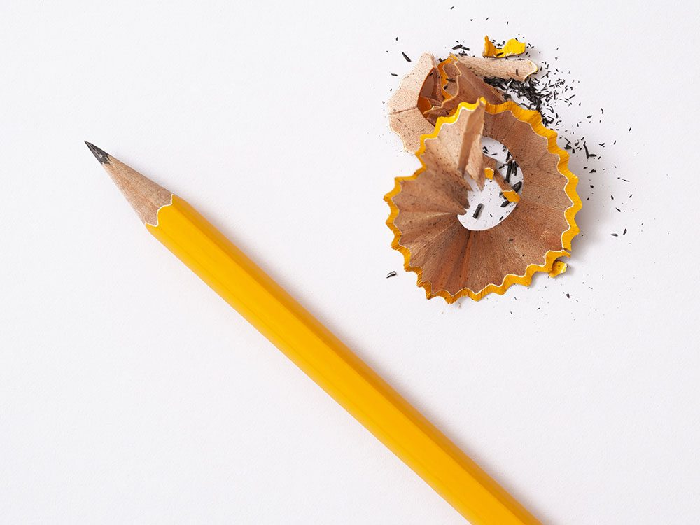 Pencil and pencil sharpenings