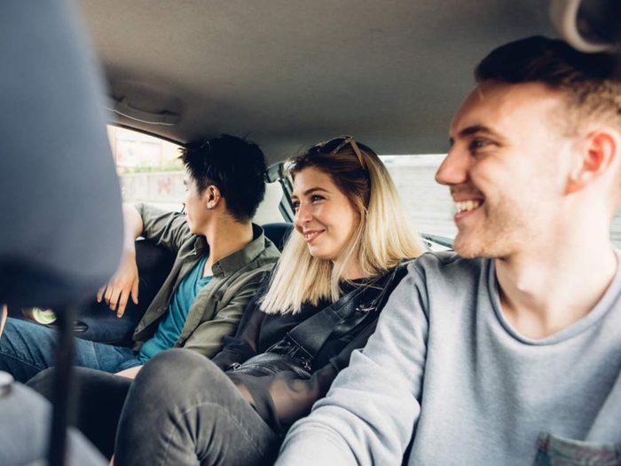 Group of people carpooling