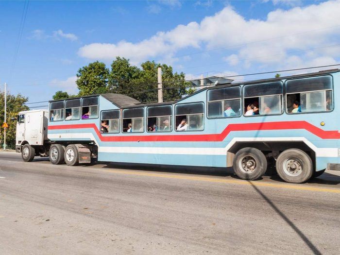 Camel Bus in Cuba
