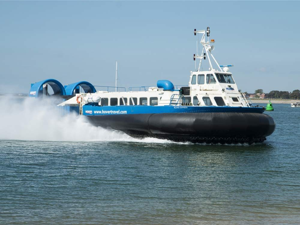 Hovercraft in the Isle of Wight, United Kingdom
