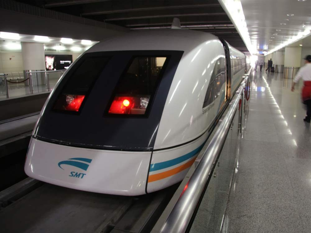 Maglev Train in Shanghai, China
