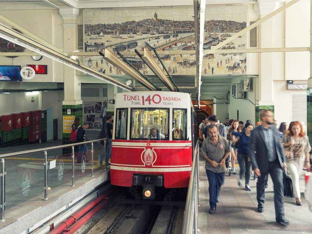 Turkey's modes of transportation include the Underground Funicular