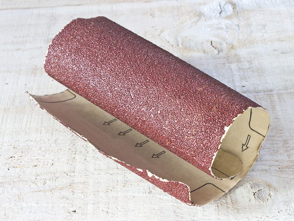Use a clipboard to organize sandpaper