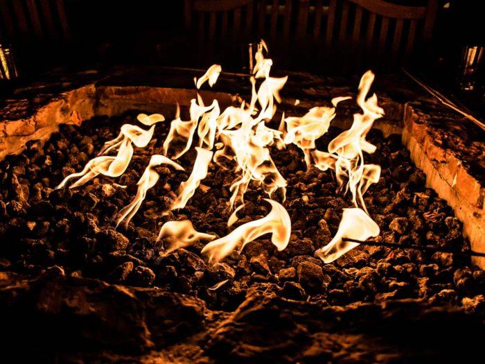 Fire dancing in India