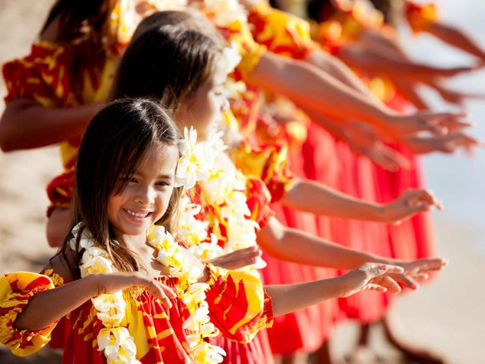 Hula dance in Hawaii