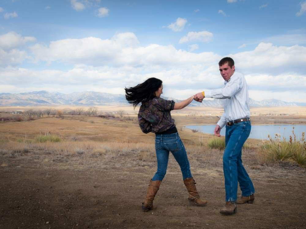 Two-step dance in Texas