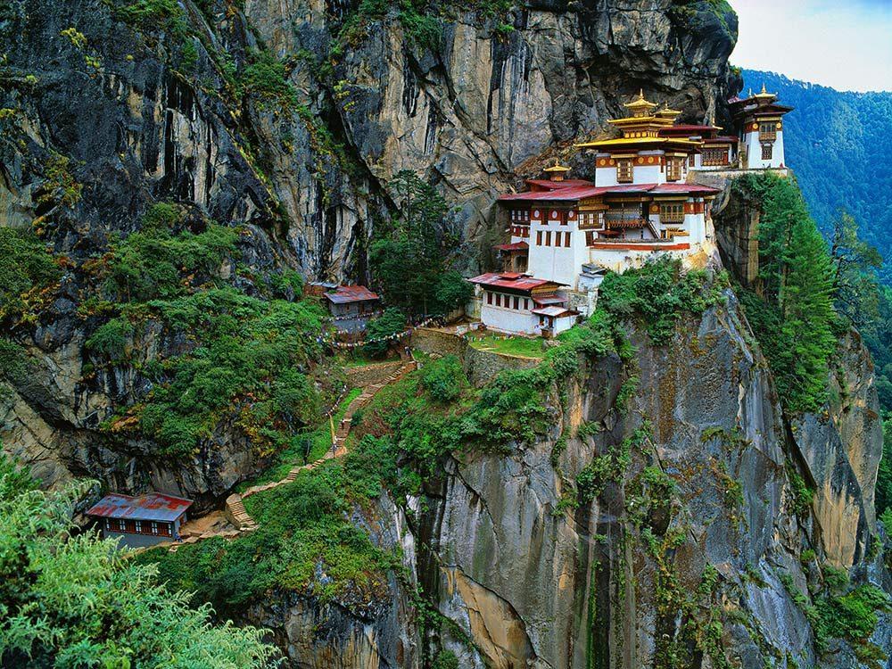 Taktsand Monastery (Tiger's Nest) in Bhutan