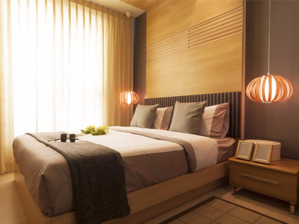 Luxury Japanese hotel bedroom