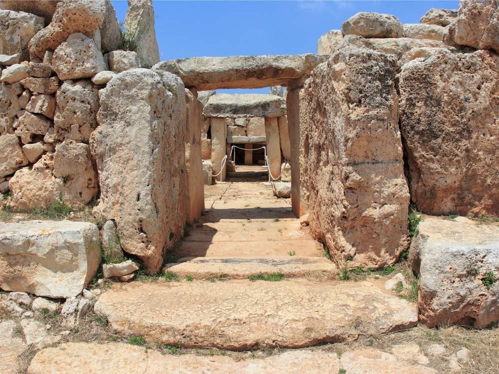 Ruins of Hagar Qim in Malta