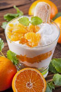 Mascarpone Mousse with Blood Oranges