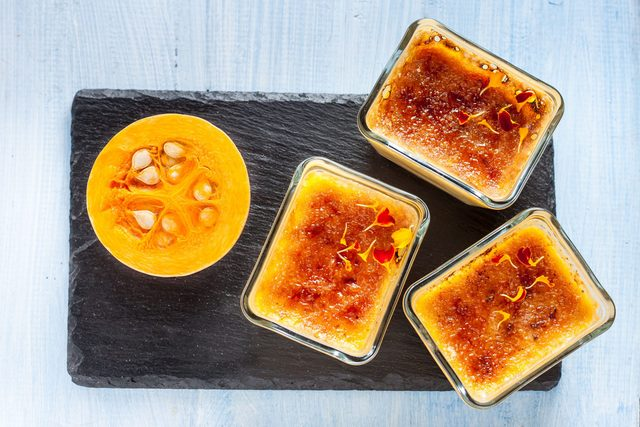 Flan with pumpkin
