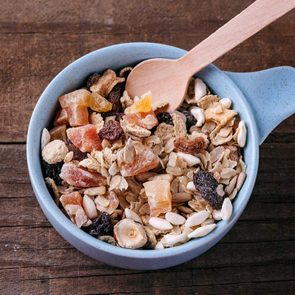 Muesli, nuts and dried berries and fruits