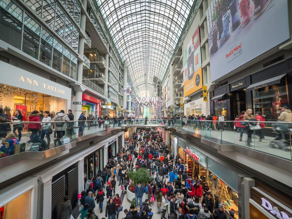 Eaton Centre in downtown Toronto