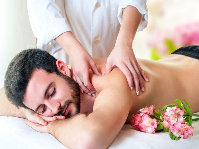 Man enjoying a relaxing massage