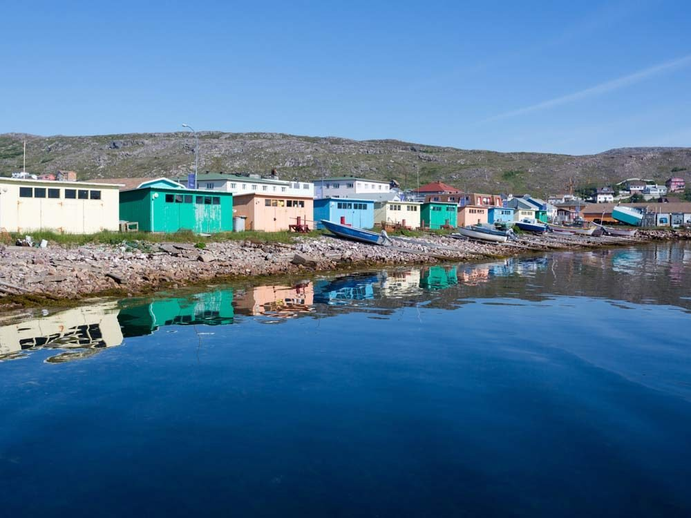Saint-Pierre and Miquelon on the east coast of Canada