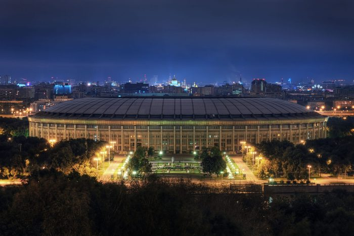 Stadium in Moscow, Russia