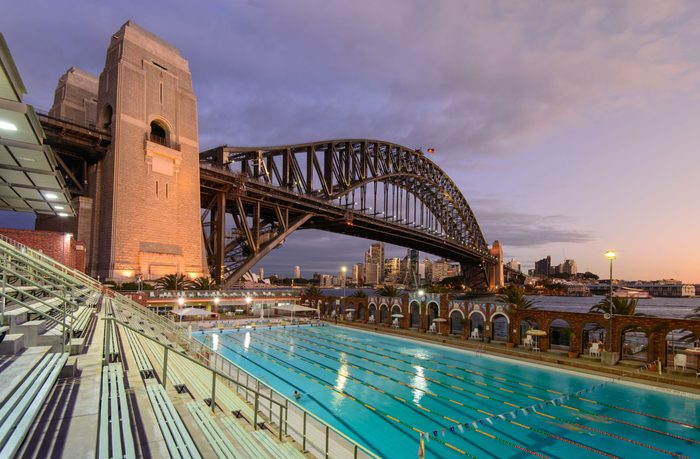 Olympic pool in Sydney, Australia for the Olympic Games