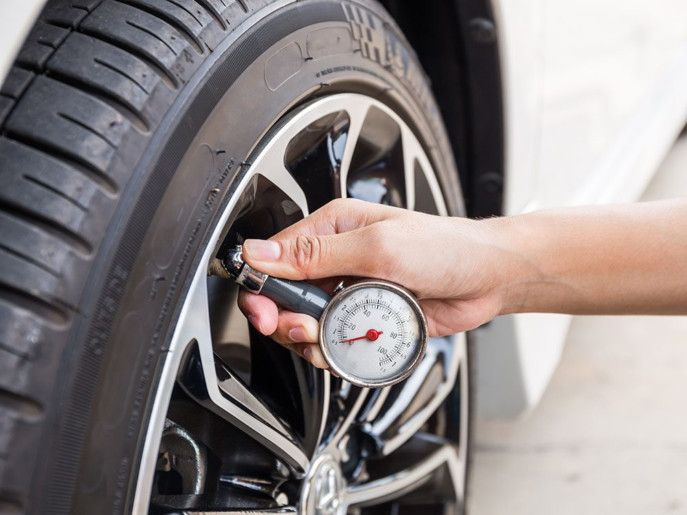 Save on gas by keeping your tires inflated
