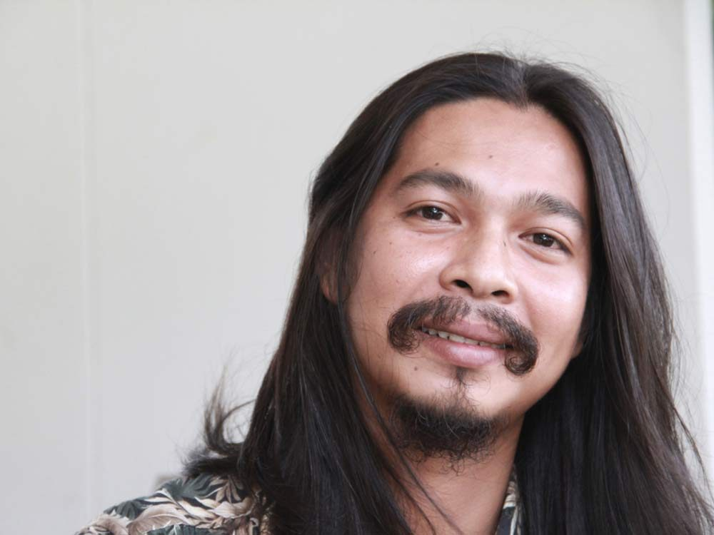 Thai man with moustache and goatee