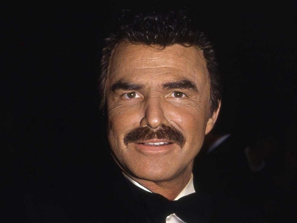 Burt Reynolds sporting one of the most iconic moustaches