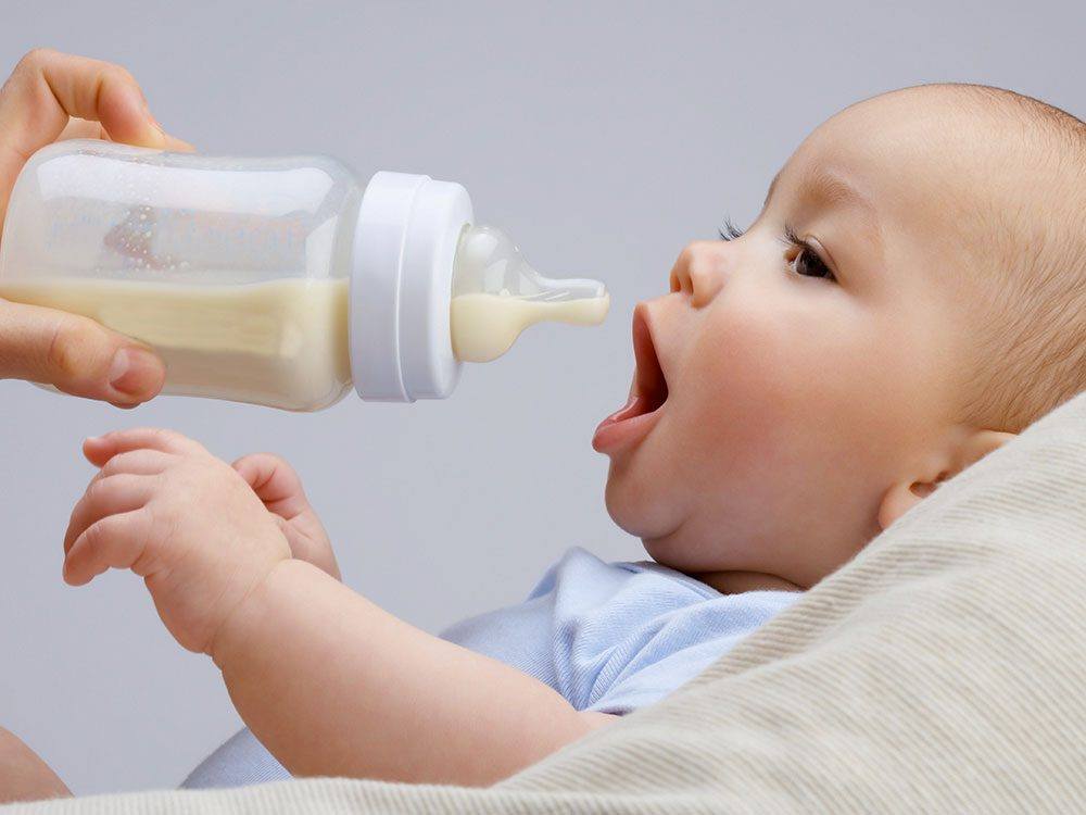 Bottle-fed baby