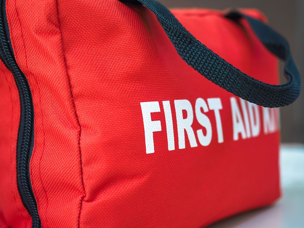 Red First-Aid Kit bag
