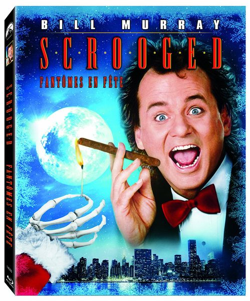 Blu-ray cover of Scrooged (1988)