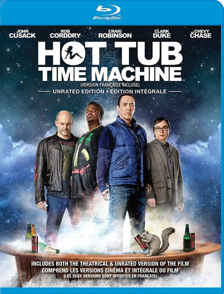 Blu ray cover of Hot Tub Time Machine