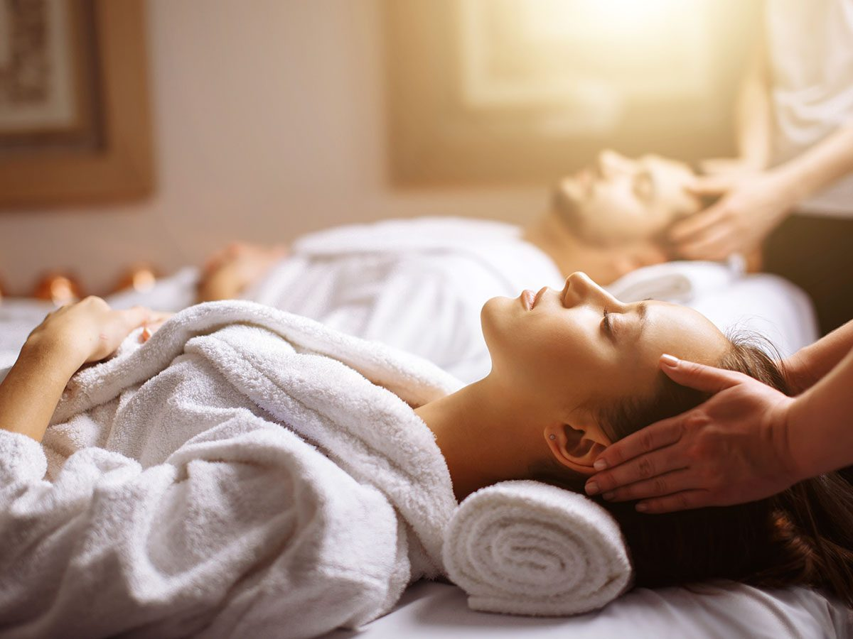 Stress management tips - Couple getting a massage
