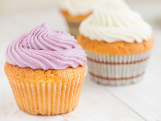 Two cupcakes with icing