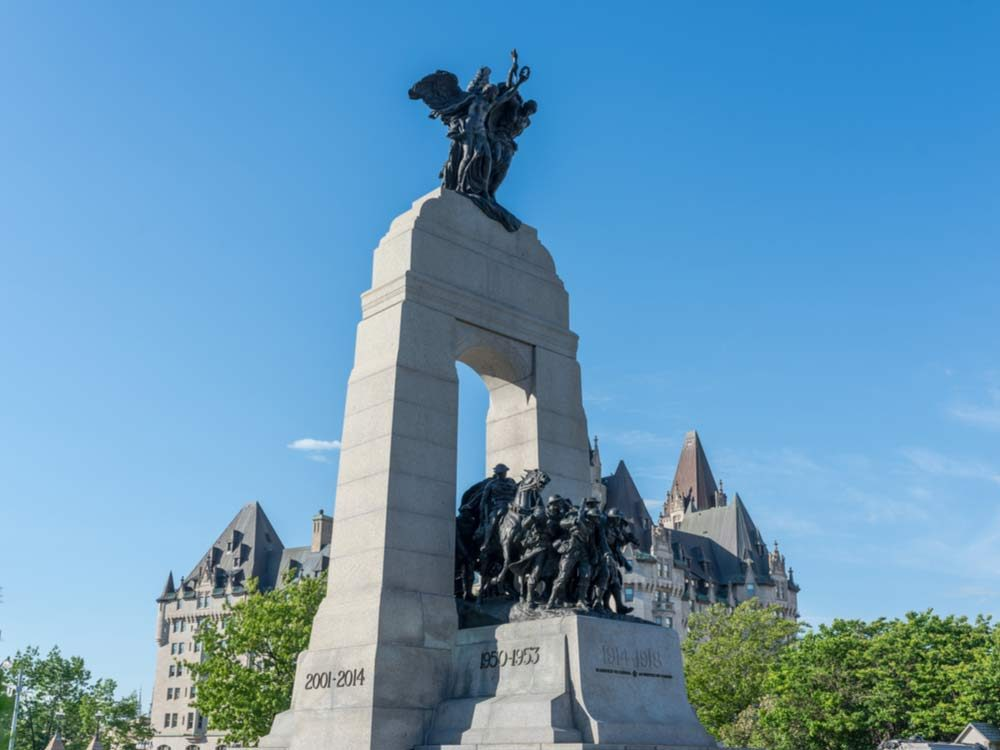 National War Memorial in Ottawa