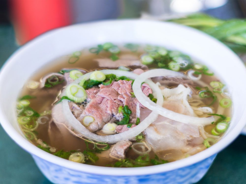 Vietnamese pho is one of the most famous street foods