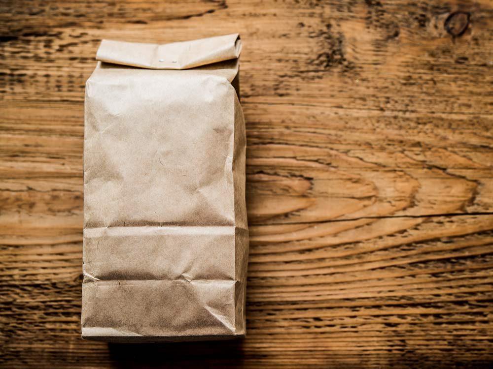 Kitchen Organizing Tips: Hang Paper Bags