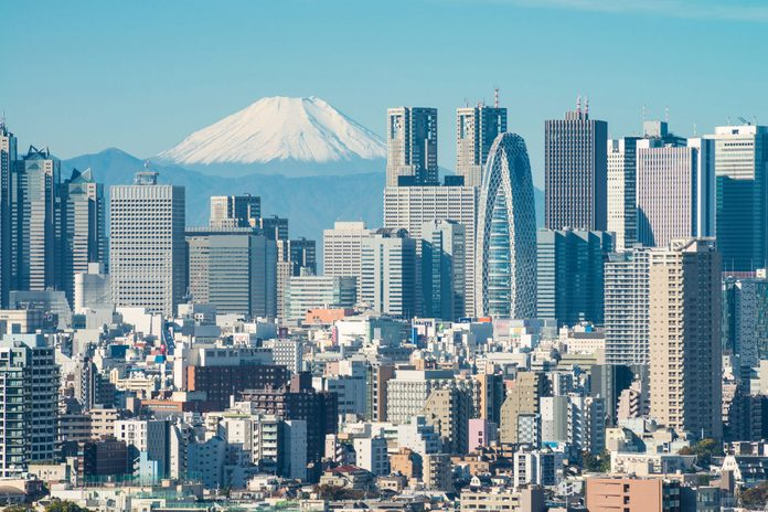 View of Tokyo with Mt. Fuji in the background