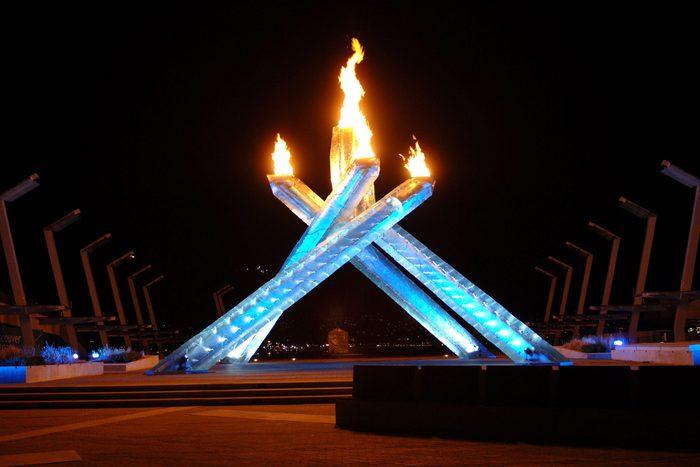 Vancouver olympics display