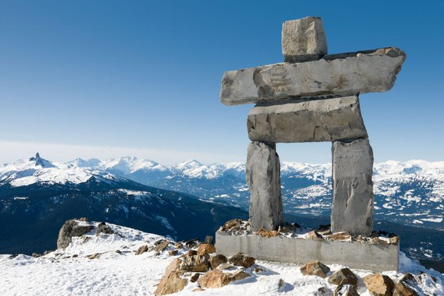 Inukshuk at Whistler during the 2010 Winter Olympics