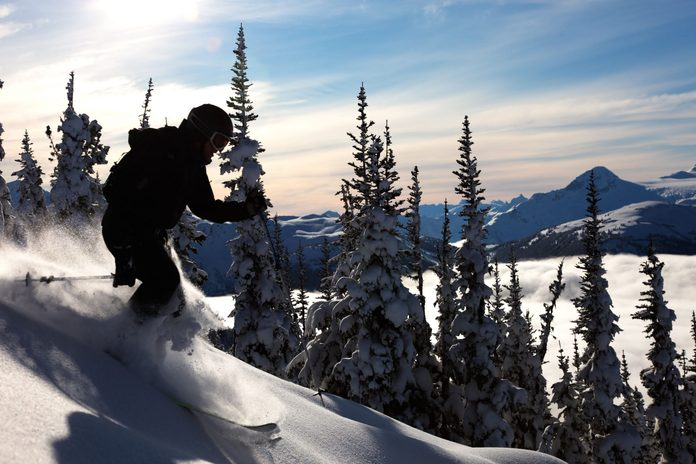 Skiing at Whistler, British Columbia